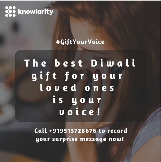 This Diwali, Surprise Your Loved Ones With The Best Gift – Your Voice!
