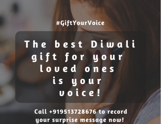 Gift your voice this Diwali